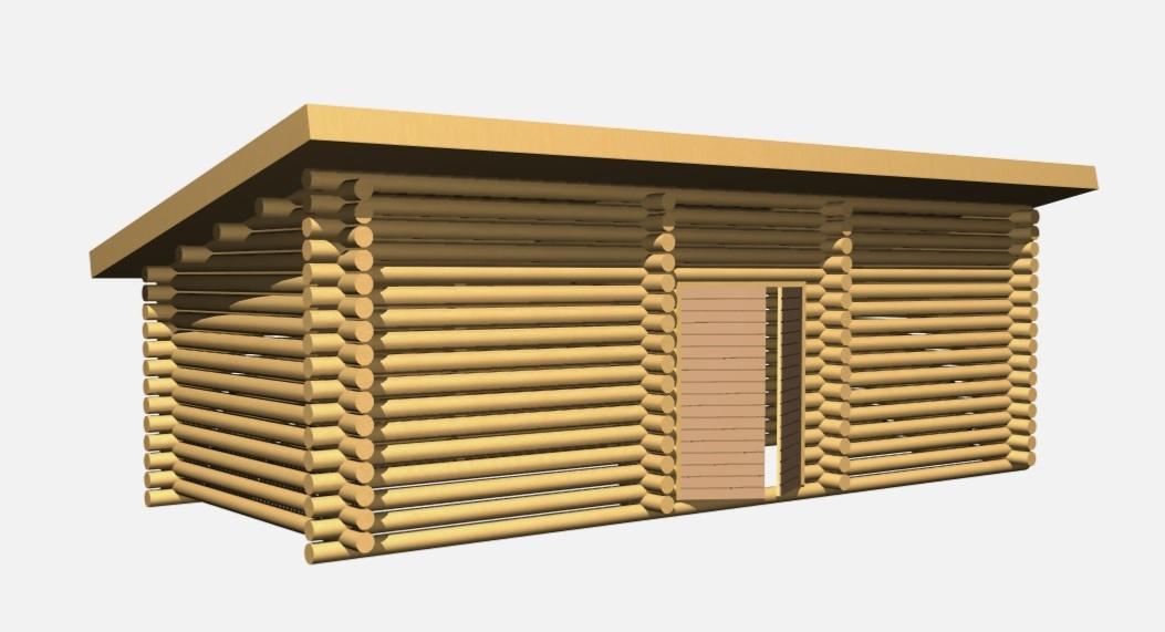 Pulpettikattoinen puuliiteri