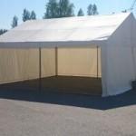 Teltta 4 m x 4 m koko valkoinen. Hinta alk. 350 eur.