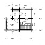 Malli sauna 20,80 pohjapiiros
