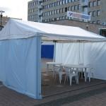 Teltta 4 x 4 m. Hinta alk. 250 eur.