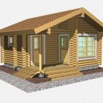 Aurinkoinen saunatupa ST 3D 061115