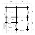 Aurinkoinen saunatupa ST Pohja 061115